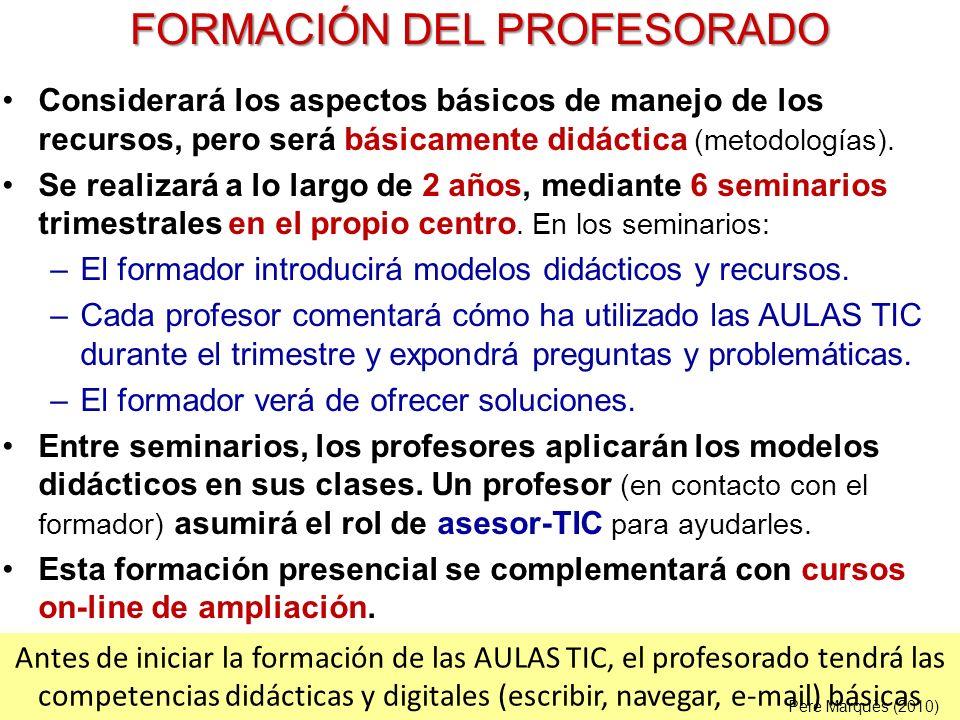 FORMACIÓN DEL PROFESORADO