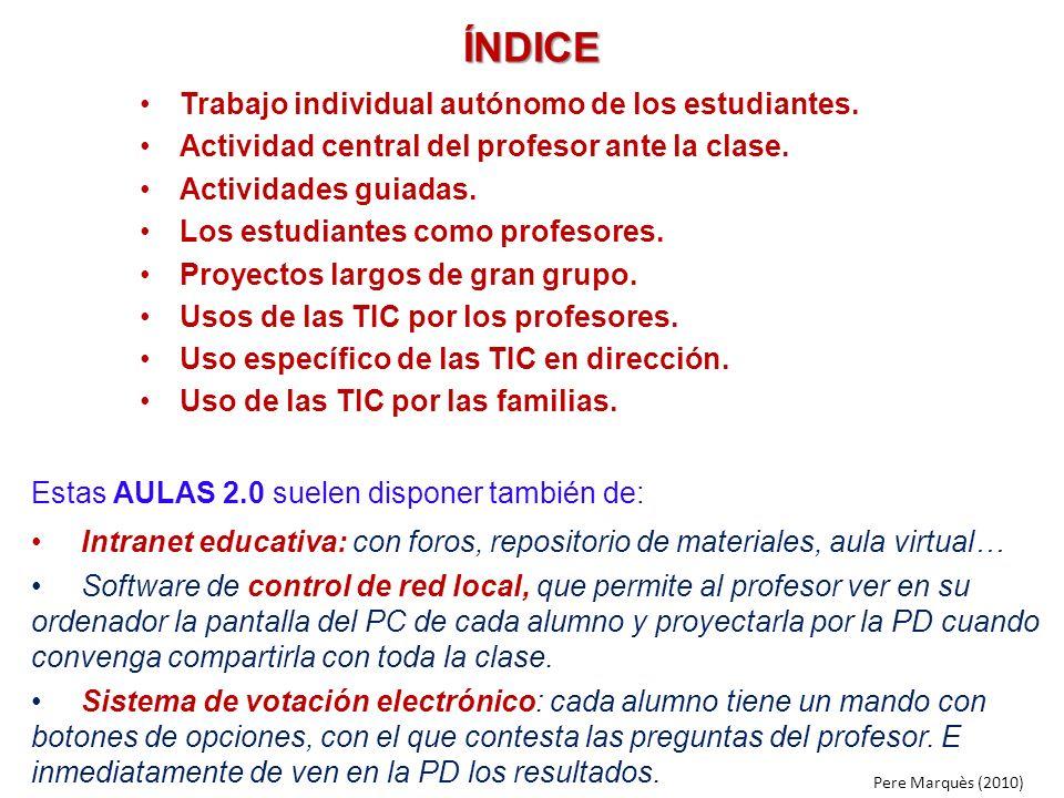 ÍNDICE Trabajo individual autónomo de los estudiantes.