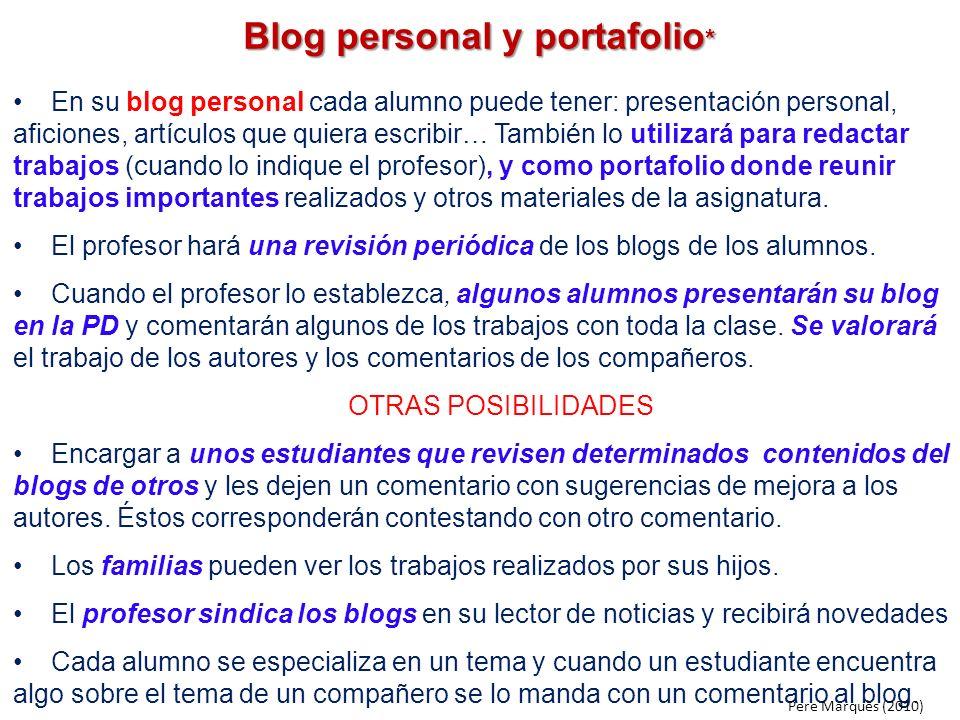 Blog personal y portafolio*