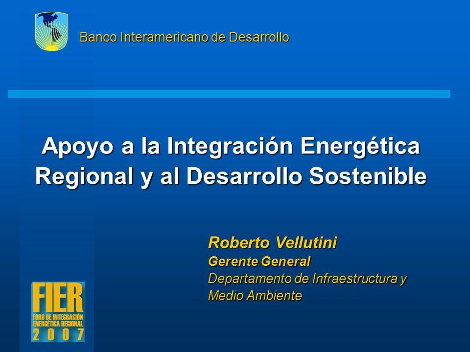 Apoyo a la Integración Energética Regional y al Desarrollo Sostenible