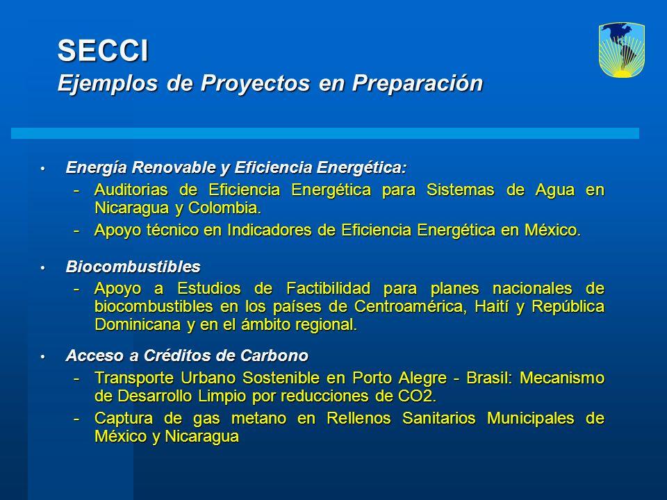 SECCI Ejemplos de Proyectos en Preparación