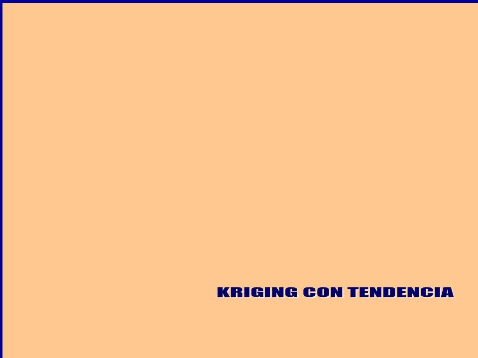KRIGING CON TENDENCIA