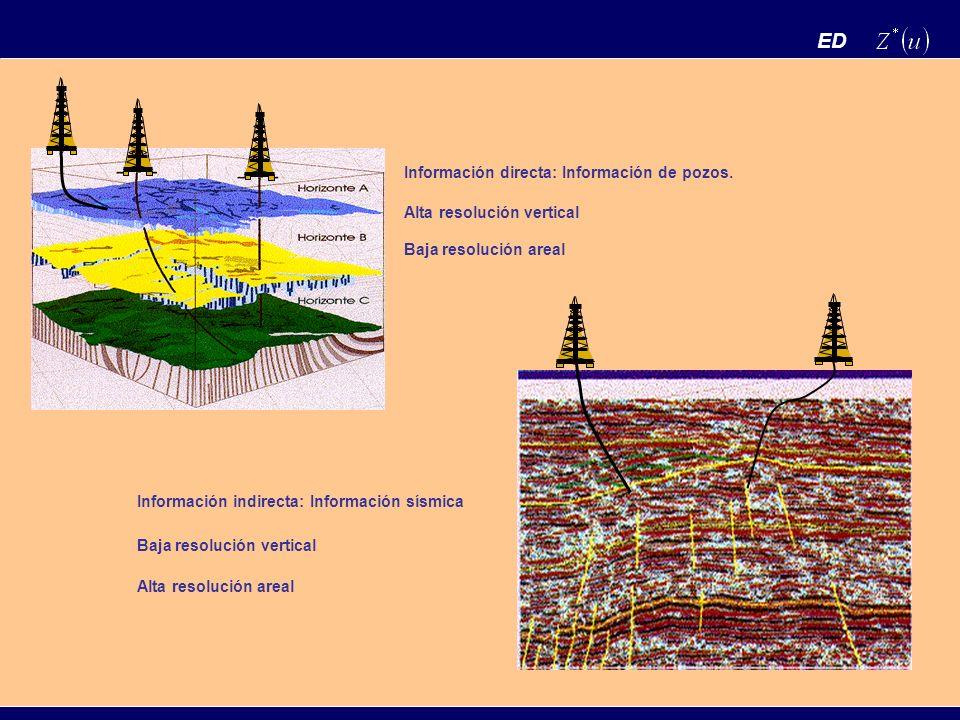 ED Información directa: Información de pozos. Alta resolución vertical
