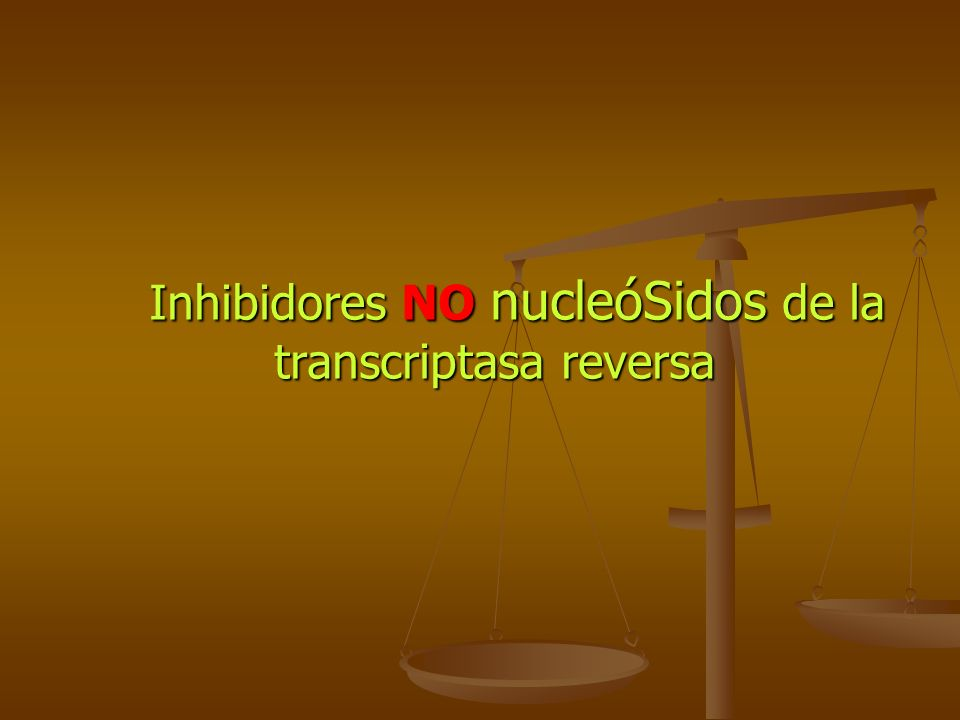 Inhibidores NO nucleóSidos de la transcriptasa reversa