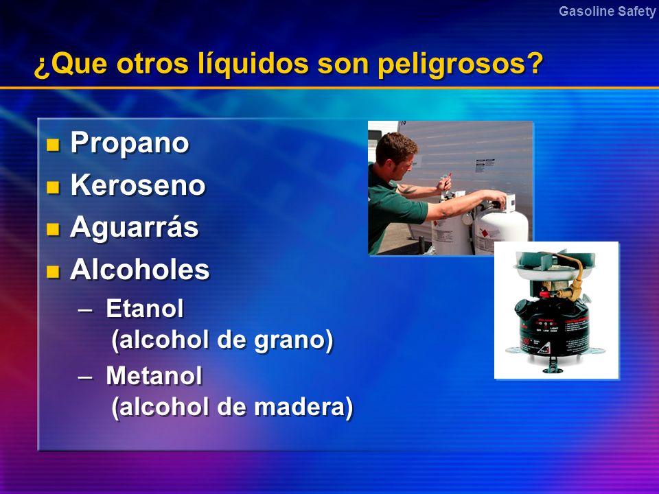 ¿Que otros líquidos son peligrosos