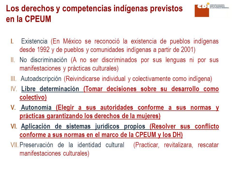 Los derechos y competencias indígenas previstos en la CPEUM