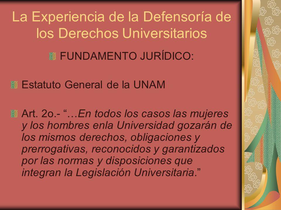 La Experiencia de la Defensoría de los Derechos Universitarios