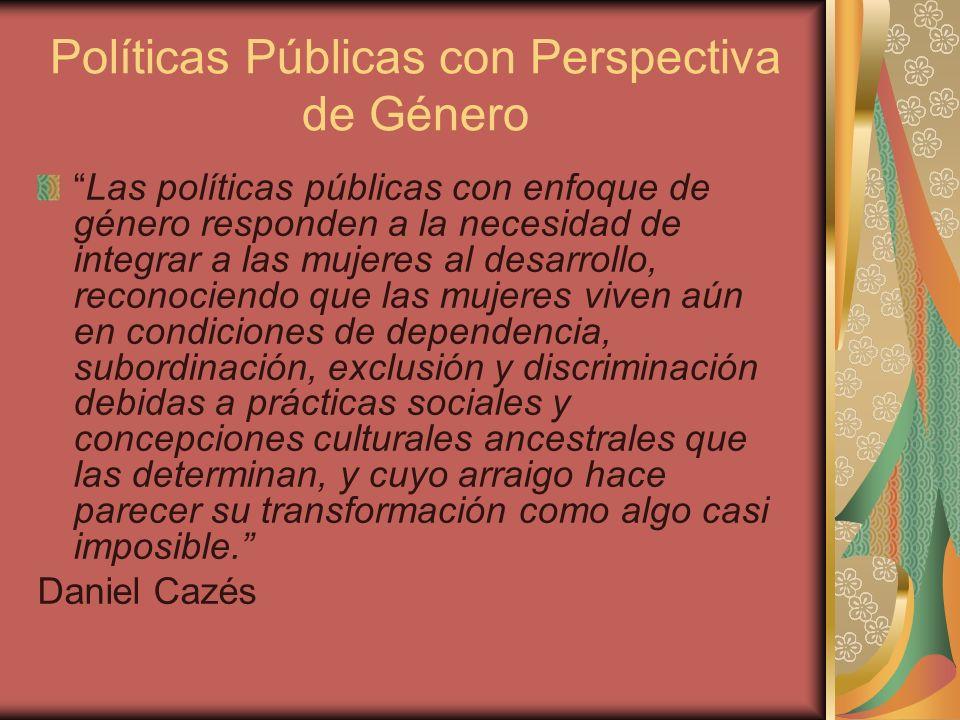 Políticas Públicas con Perspectiva de Género