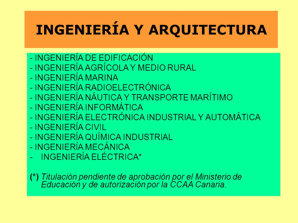 INGENIERÍA Y ARQUITECTURA
