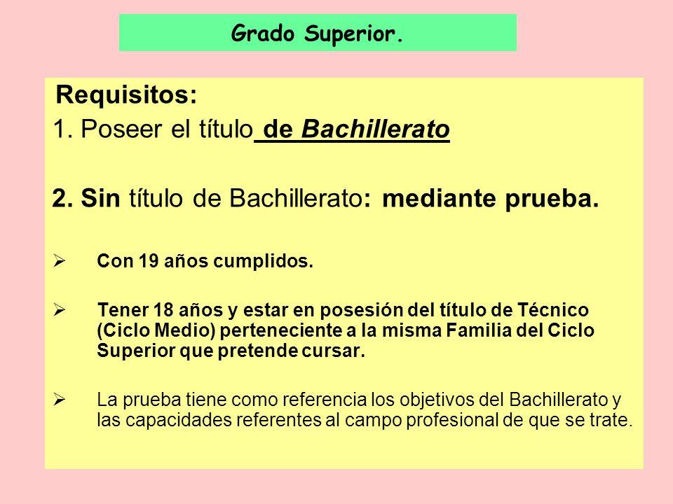 1. Poseer el título de Bachillerato