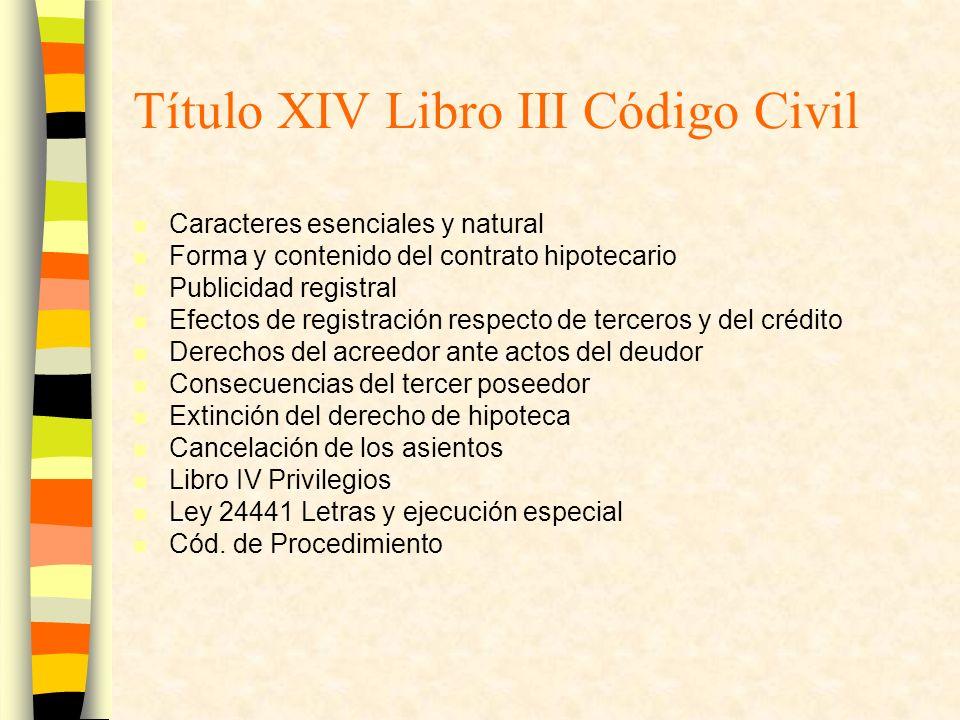 Título XIV Libro III Código Civil