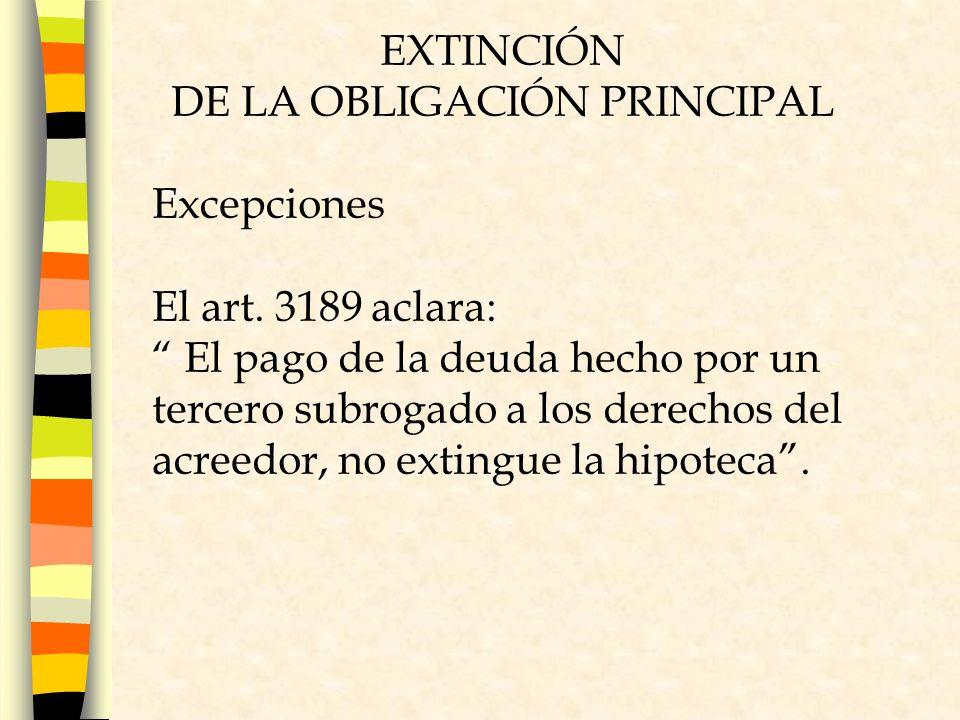 DE LA OBLIGACIÓN PRINCIPAL