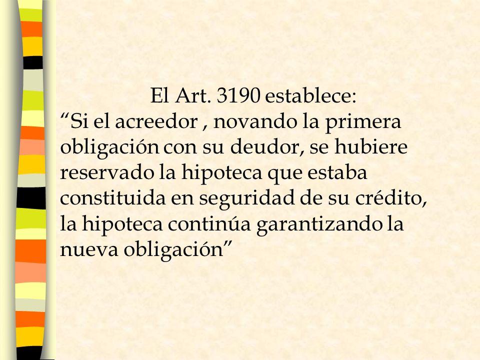 El Art. 3190 establece: