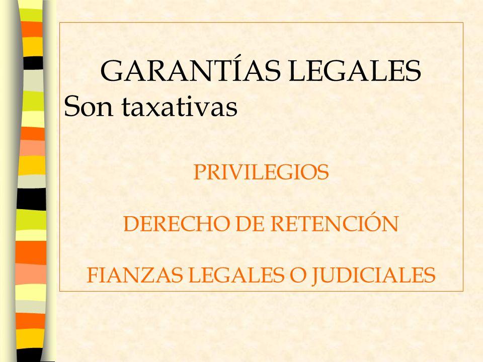 FIANZAS LEGALES O JUDICIALES