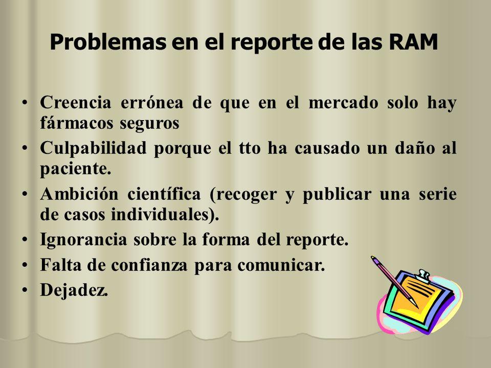 Problemas en el reporte de las RAM