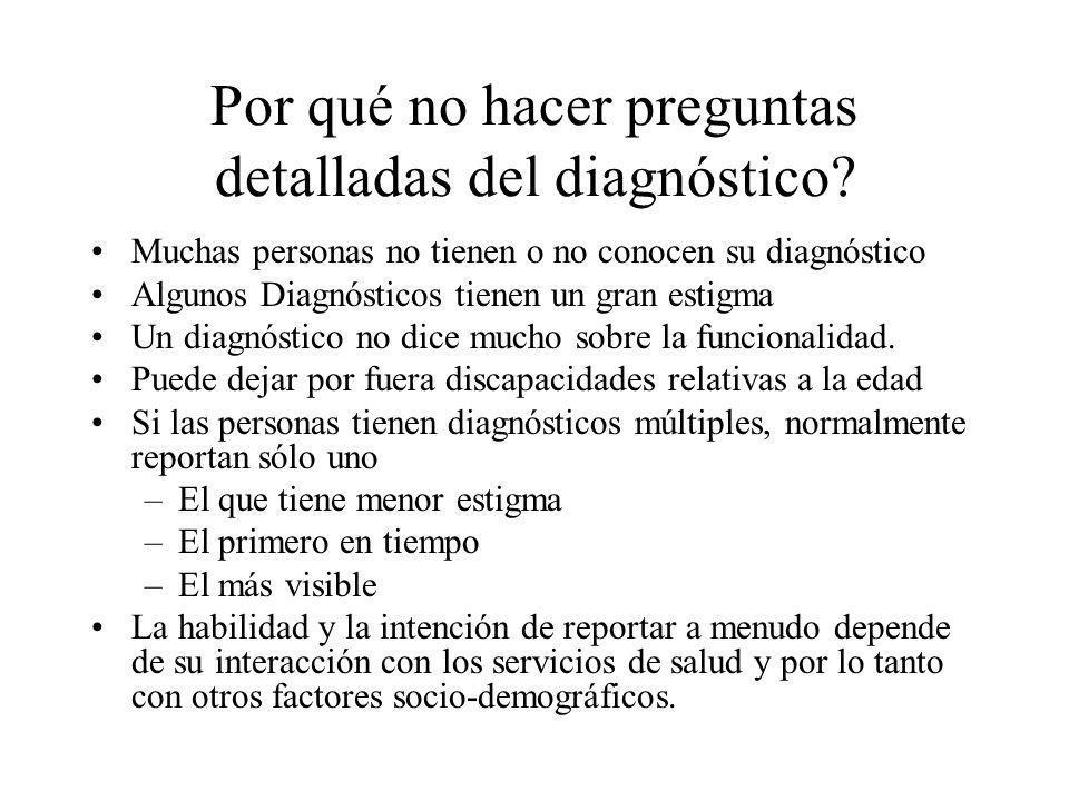 Por qué no hacer preguntas detalladas del diagnóstico