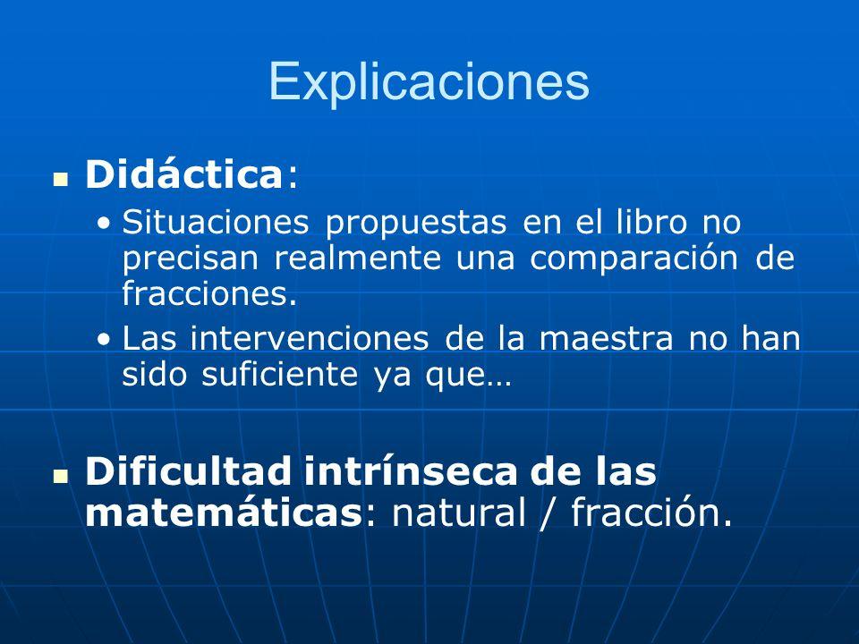 Explicaciones Didáctica: