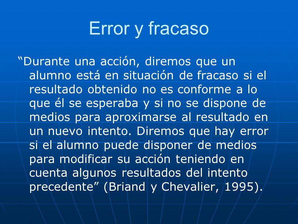 Error y fracaso