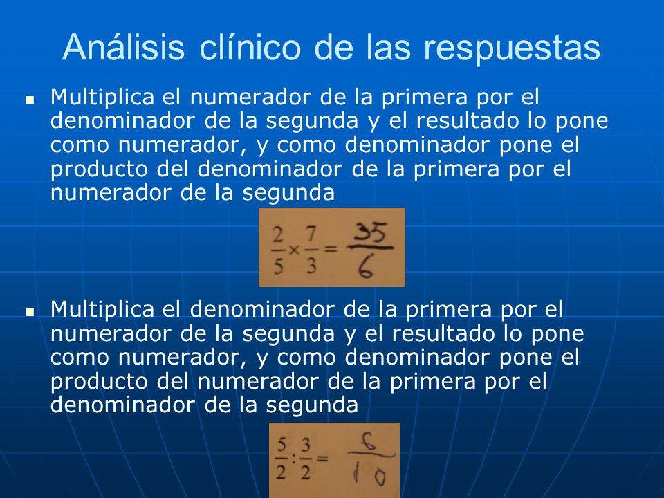 Análisis clínico de las respuestas