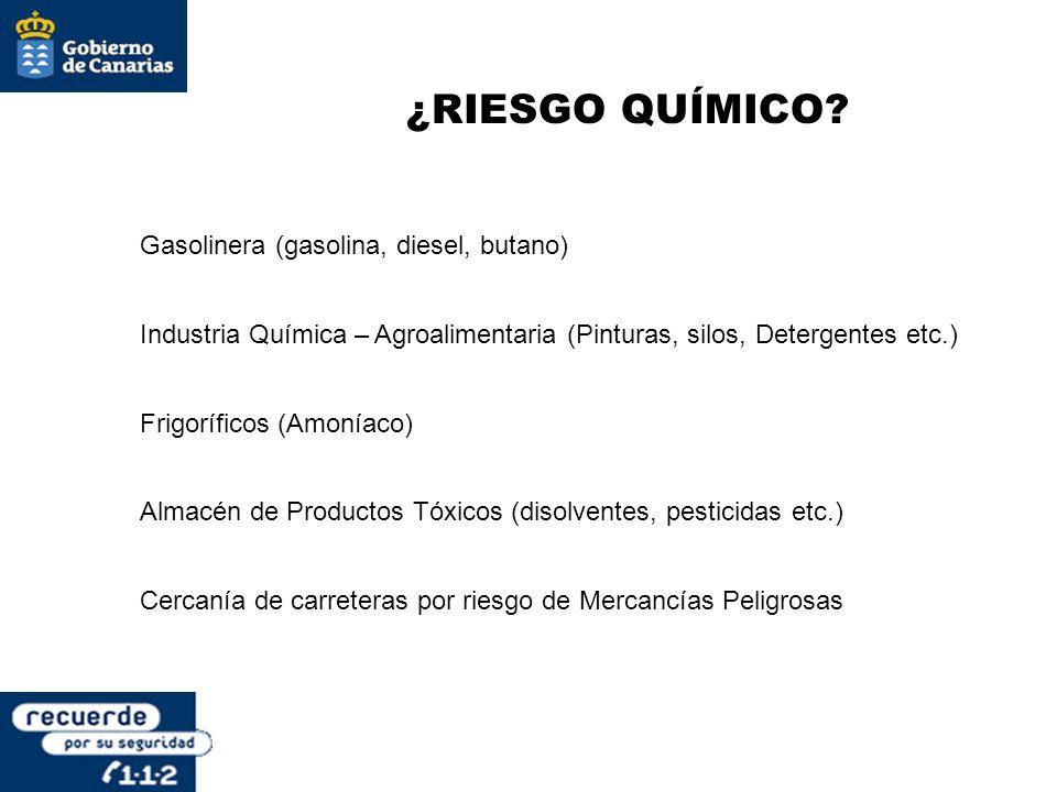 ¿RIESGO QUÍMICO Gasolinera (gasolina, diesel, butano)