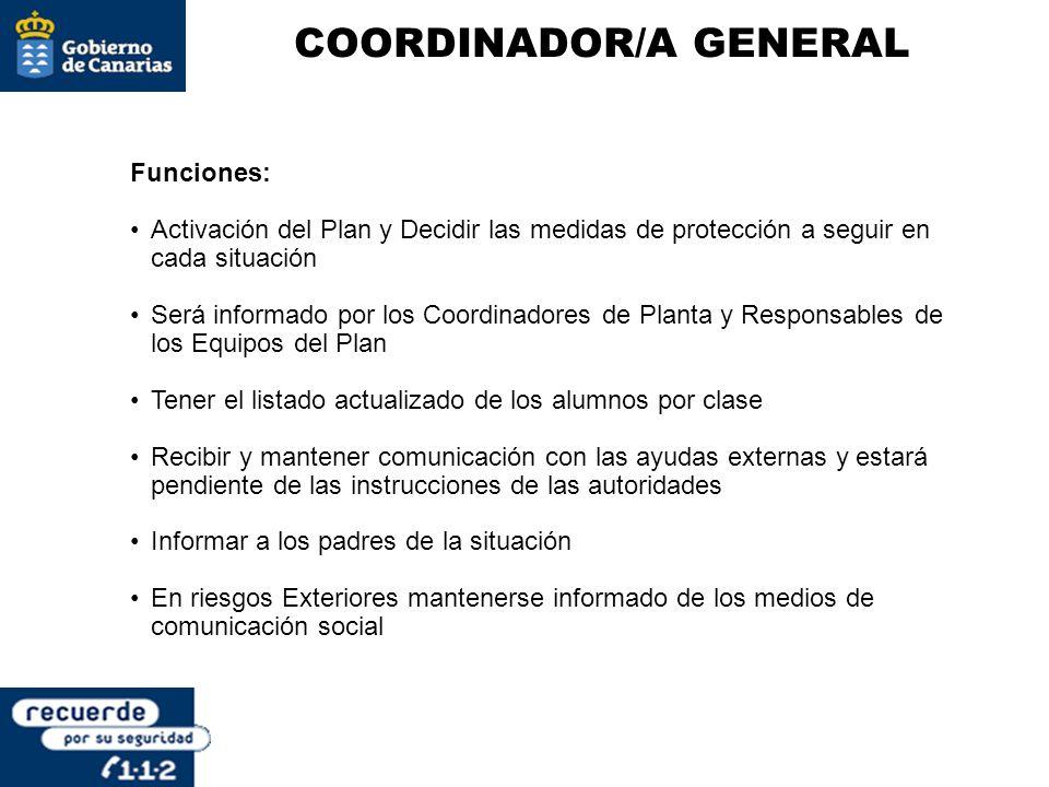 COORDINADOR/A GENERAL