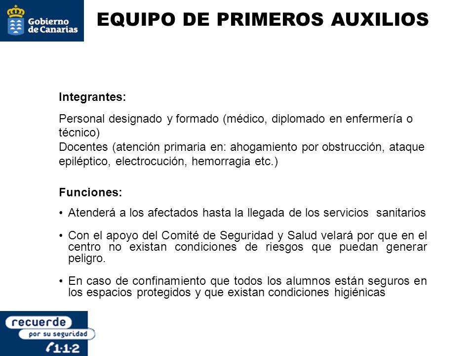 EQUIPO DE PRIMEROS AUXILIOS