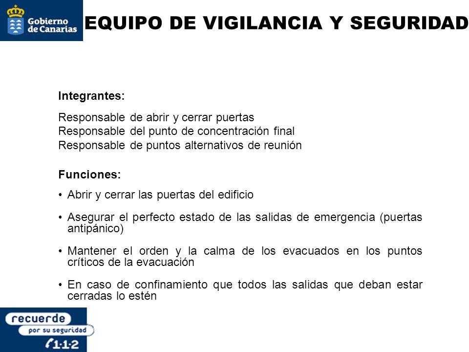 EQUIPO DE VIGILANCIA Y SEGURIDAD