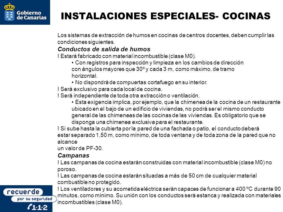 INSTALACIONES ESPECIALES- COCINAS