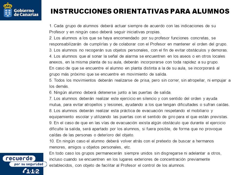INSTRUCCIONES ORIENTATIVAS PARA ALUMNOS
