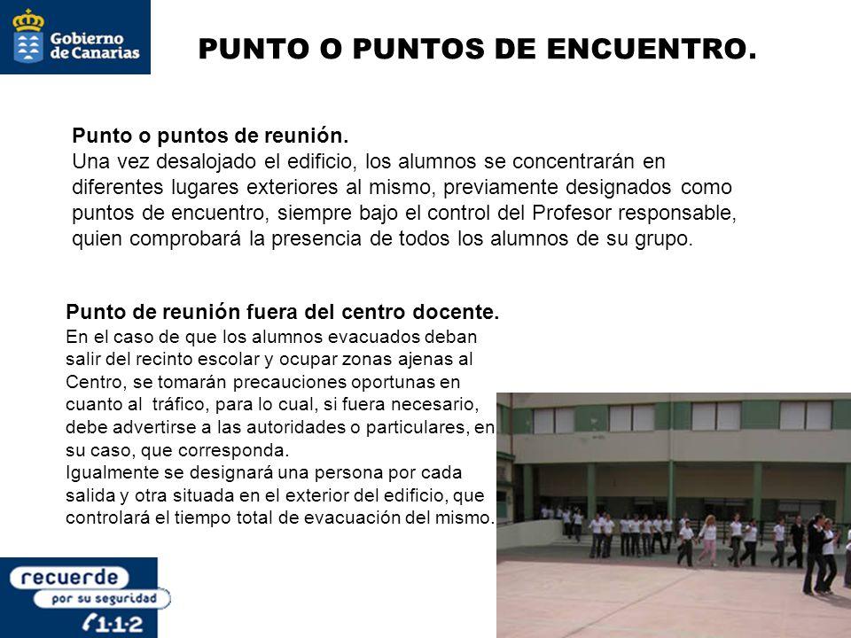 PUNTO O PUNTOS DE ENCUENTRO.