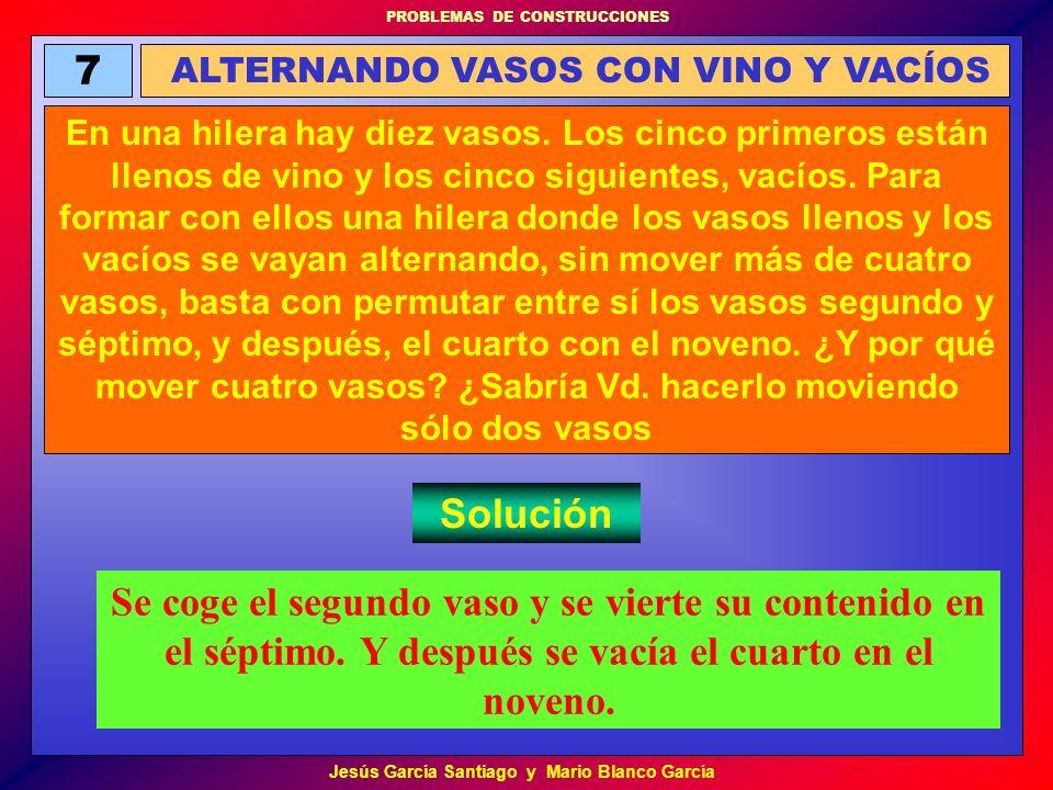 ALTERNANDO VASOS CON VINO Y VACÍOS