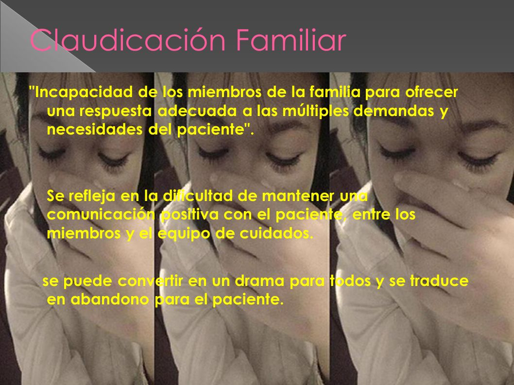 Claudicación Familiar