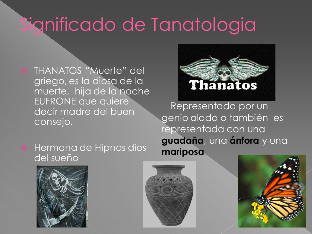 Significado de Tanatologia