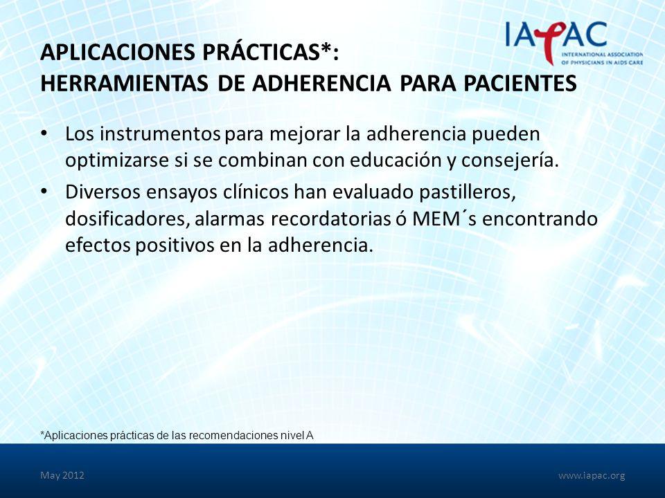 Aplicaciones Prácticas*: Herramientas de Adherencia para Pacientes