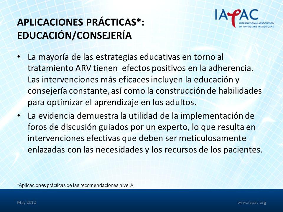 Aplicaciones Prácticas*: Educación/Consejería