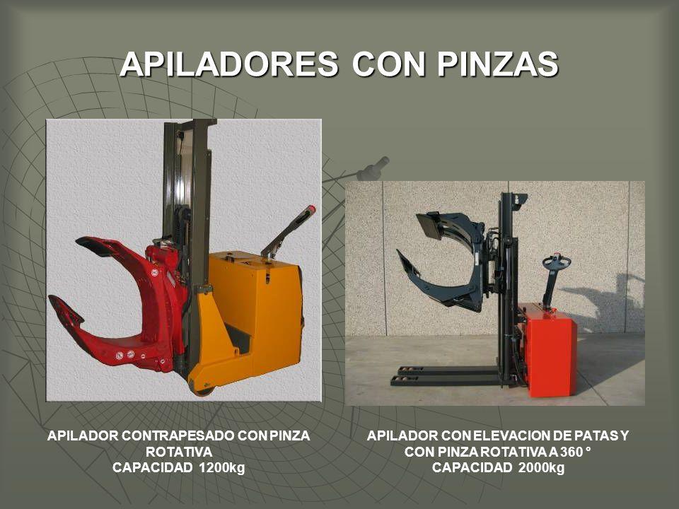 APILADORES CON PINZAS APILADOR CONTRAPESADO CON PINZA ROTATIVA
