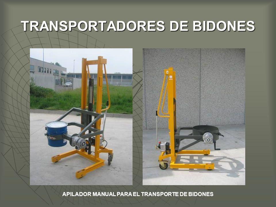 TRANSPORTADORES DE BIDONES