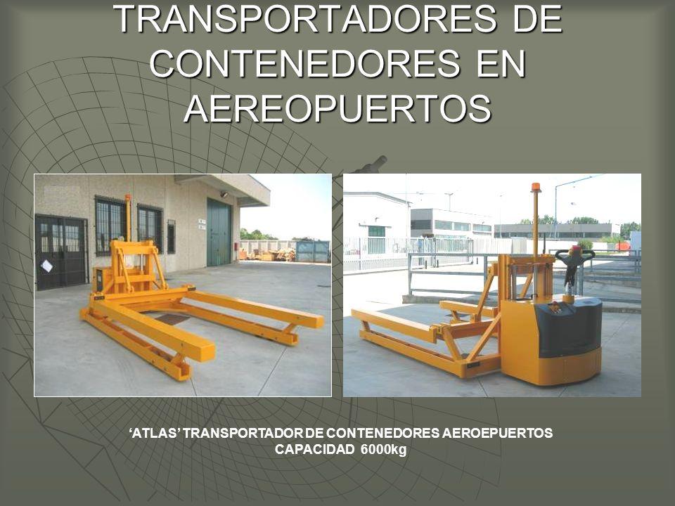 TRANSPORTADORES DE CONTENEDORES EN AEREOPUERTOS