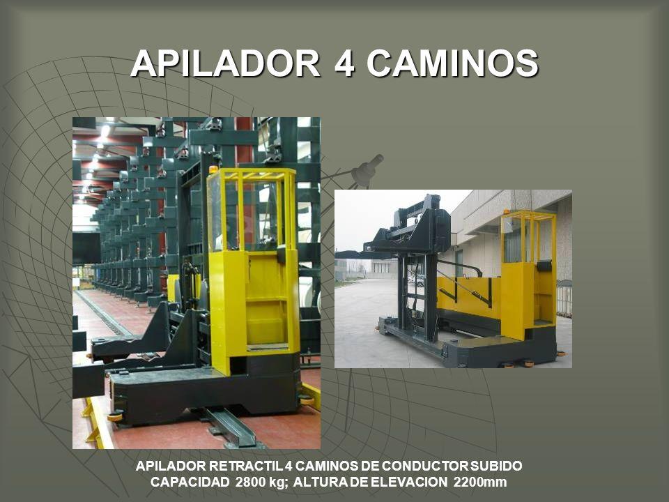 APILADOR 4 CAMINOS APILADOR RETRACTIL 4 CAMINOS DE CONDUCTOR SUBIDO