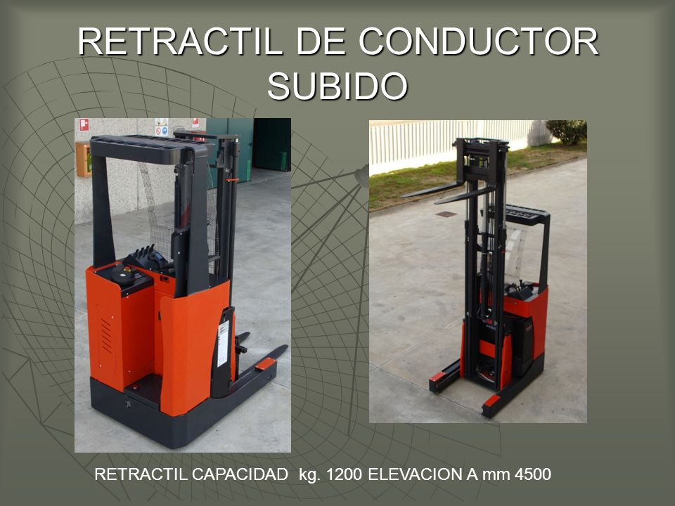 RETRACTIL DE CONDUCTOR SUBIDO