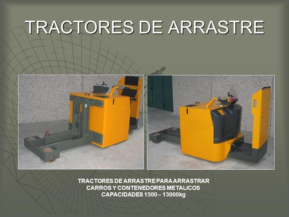 TRACTORES DE ARRASTRE PARA ARRASTRAR CARROS Y CONTENEDORES METALICOS