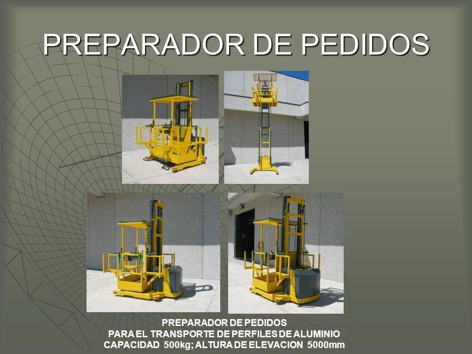 PARA EL TRANSPORTE DE PERFILES DE ALUMINIO