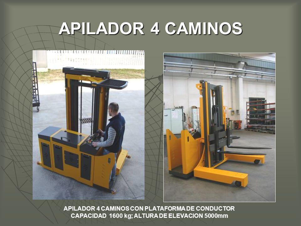 APILADOR 4 CAMINOS APILADOR 4 CAMINOS CON PLATAFORMA DE CONDUCTOR