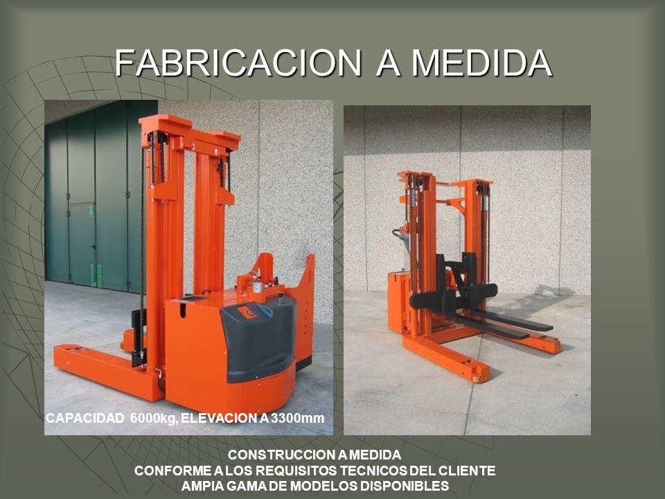 FABRICACION A MEDIDA CAPACIDAD 6000kg, ELEVACION A 3300mm