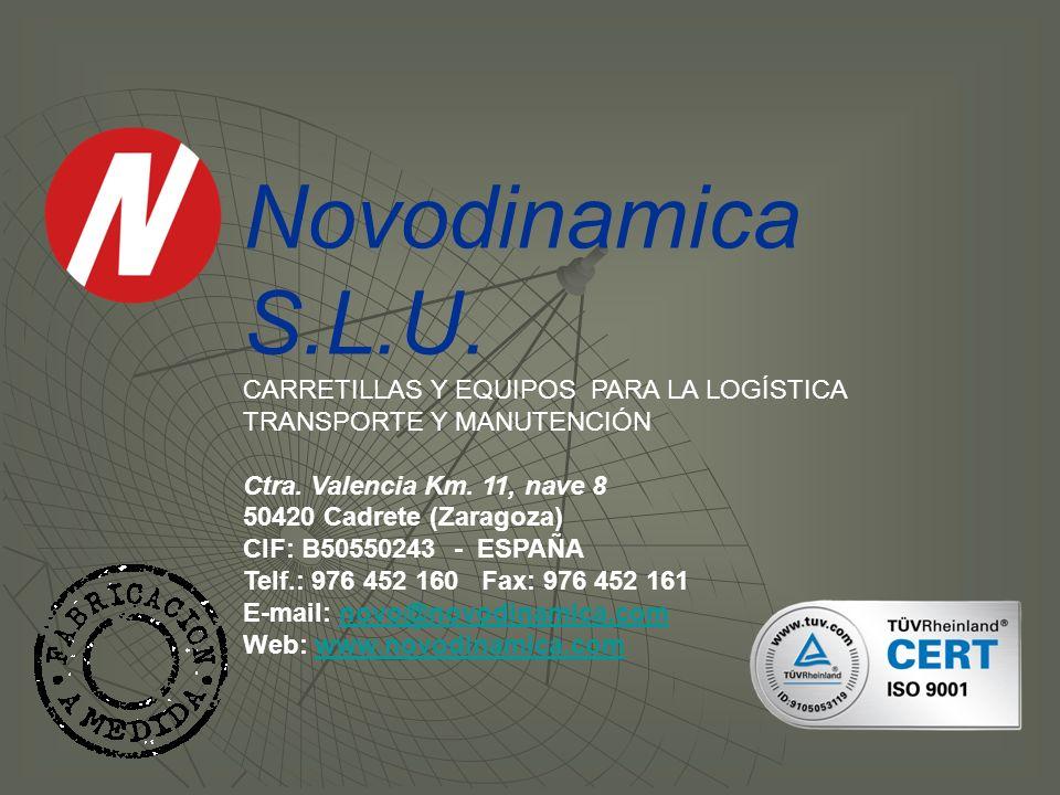Novodinamica S.L.U. CARRETILLAS Y EQUIPOS PARA LA LOGÍSTICA