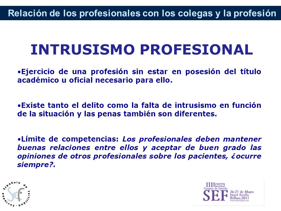 INTRUSISMO PROFESIONAL