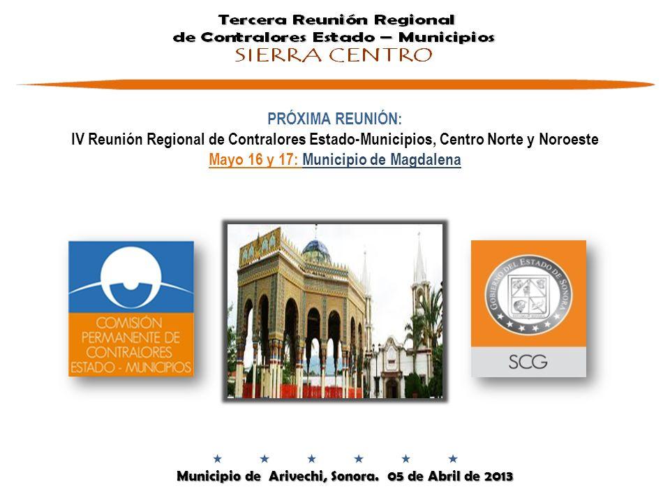Mayo 16 y 17: Municipio de Magdalena