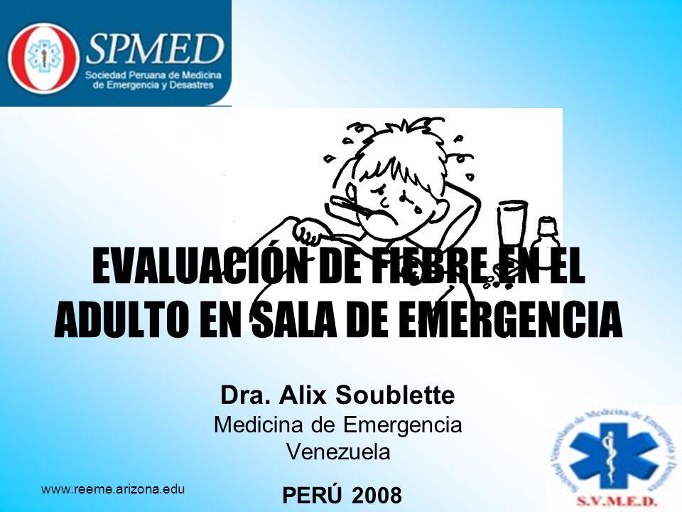 EVALUACIÓN DE FIEBRE EN EL ADULTO EN SALA DE EMERGENCIA
