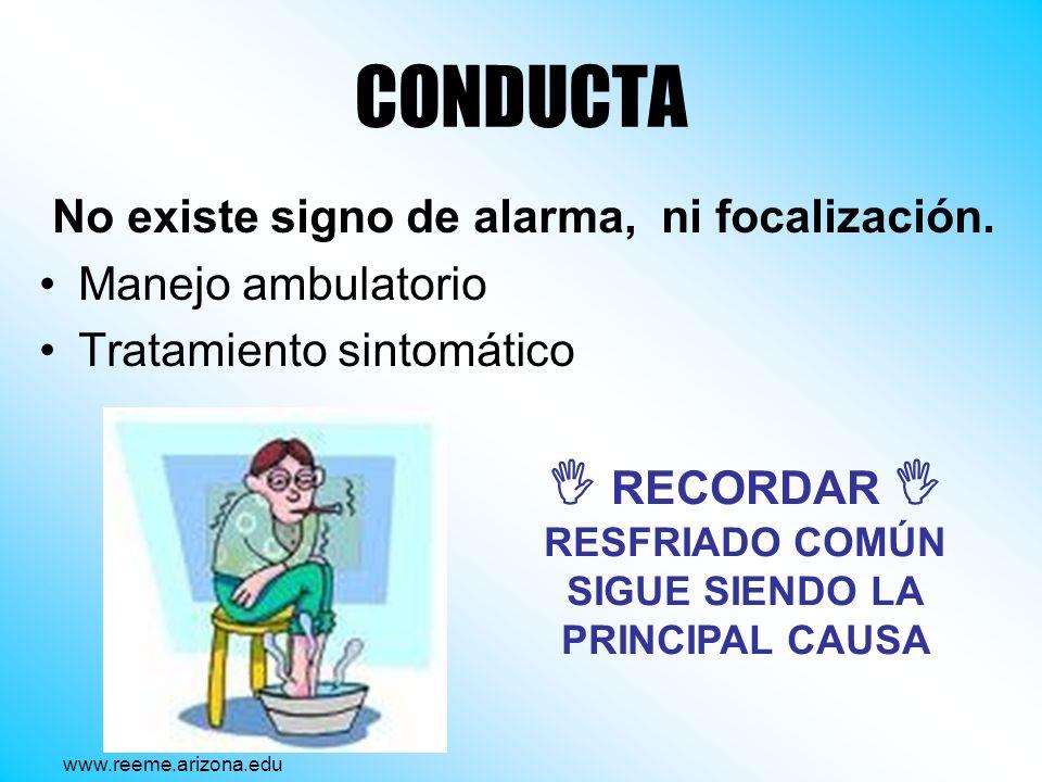  RECORDAR  RESFRIADO COMÚN SIGUE SIENDO LA PRINCIPAL CAUSA