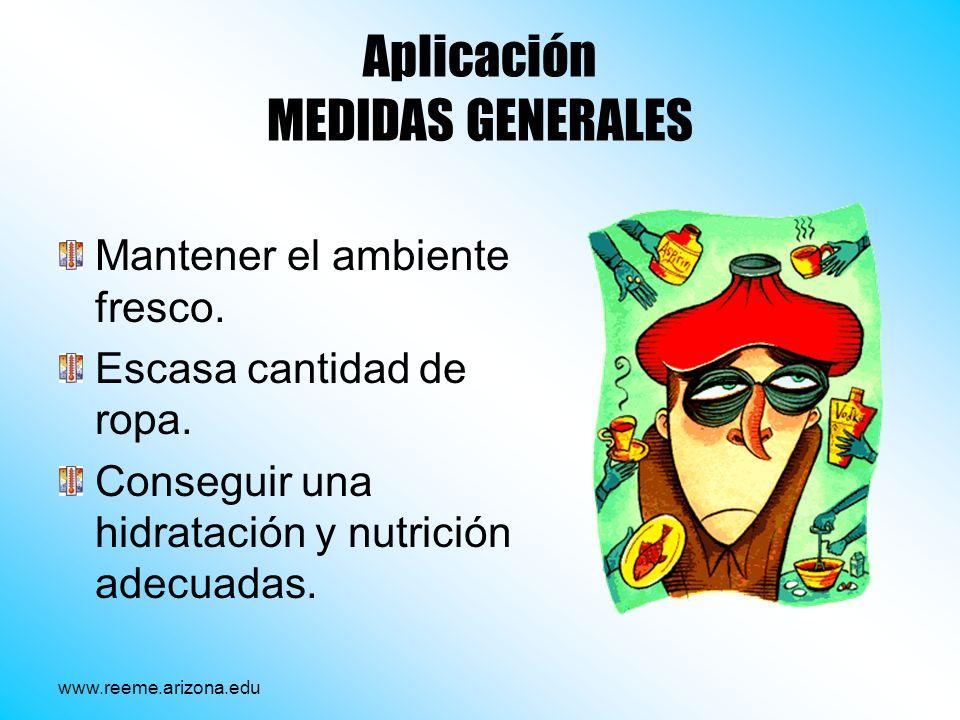 Aplicación MEDIDAS GENERALES